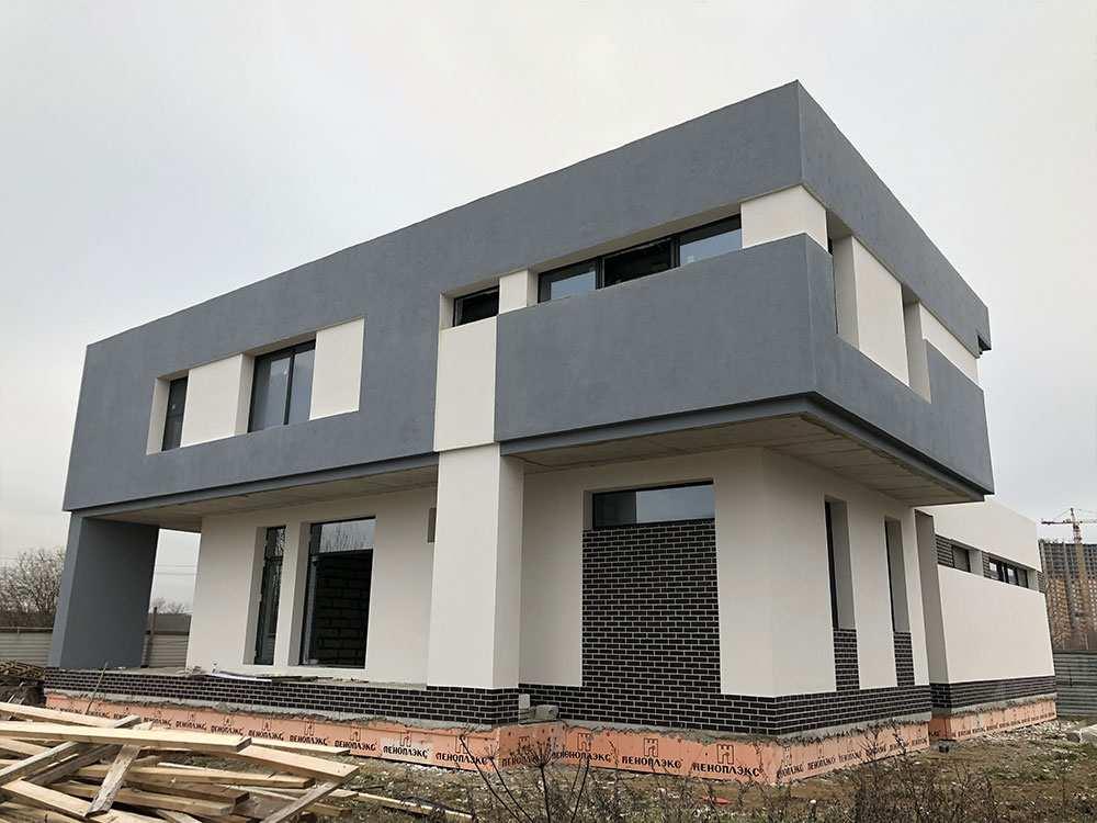 один из вариантов отделки фасада частного дома