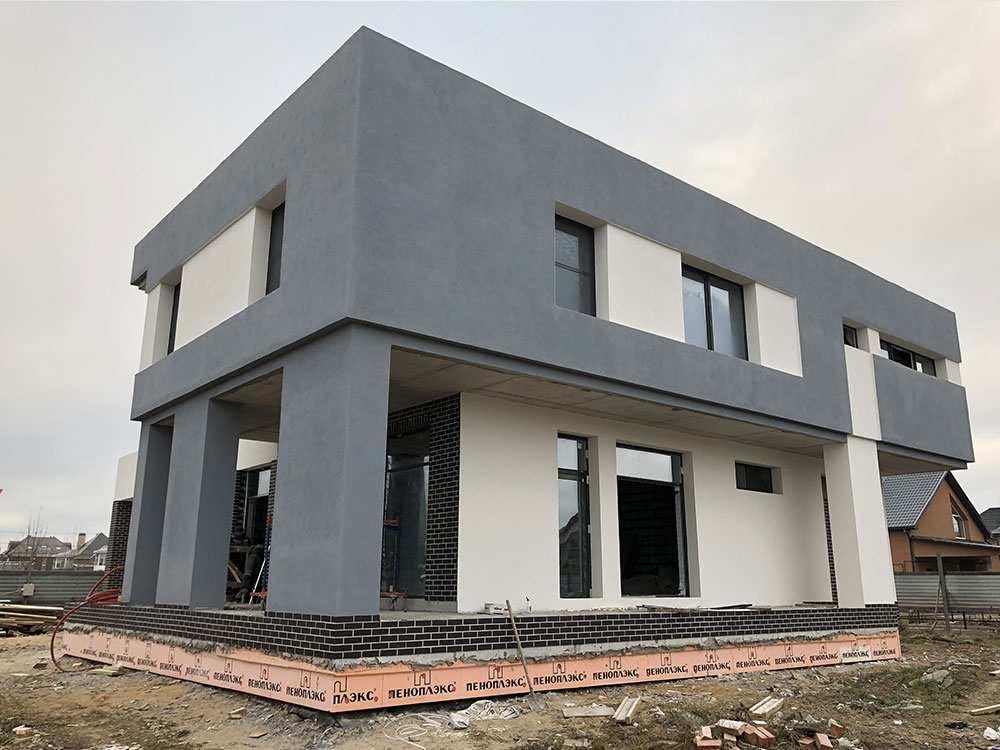 вариант отделки фасада дома